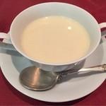 37540823 - ・スープ                       ブロッコリーのポタージュ                       あっさりした口当たりだが濃厚な味わい、めちゃくちゃ美味しい♪