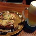 マハロ - ピザトースト。夜のみ。軽い夜食に。