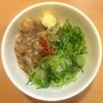 37541524 - 麺屋はなび 緑店  背アブラめし 310円