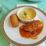 浜松町 東京會舘 - 蟹クリームコロッケ、鰈のポーピエット、カネロニ野菜グラタン仕立て
