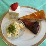 浜松町 東京會舘 - ショートケーキ、アップルパイ、ガトーショコラ、抹茶ティラミス