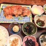 ゆきの - 白身魚の明太子ソース定食 850円