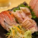 魚真 - のどぐろ炙り刺身1580円 とろけましたねえ