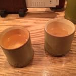大衆割烹TAKEYA - 竹酒のお猪口