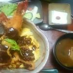 丼厨房 シェ・くぼた - 海老フライ味噌だれ丼