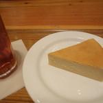37548468 - チーズケーキ+アイスティー