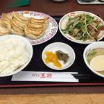 餃子の王将 - 選べる餃子定食(ニラレバ炒め)