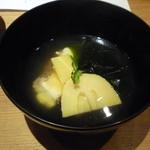 りん - お椀 京都産筍 天然真鯛