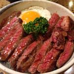 プチレストラン ぱーとな - ステーキ丼1010円