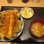 37553657 - 春野菜の海老天丼