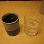 37553677 - お冷とお茶、両方出されます。
