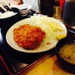 天婦羅 たる松 - 豚カツ定食850円