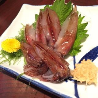 小料理荒井 渡田店 - 生ほたるいか(600円+税)2015年4月