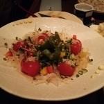 醸し屋 素郎slow - スナックトマト南蛮づくりと言うサラダ