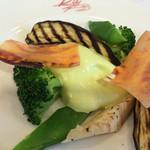 燕三条イタリアン Bit - サラダ(枝豆のエスプーマソース)