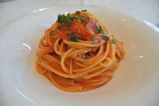 リストランテ ウミリア - 渡り蟹のトマトソースお好きな量で♪