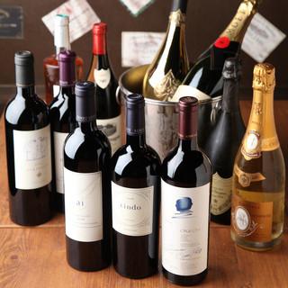 83種類の豊富なワイン