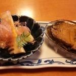 つきじ宮川本廛 - 前菜(筍とトコブシ)