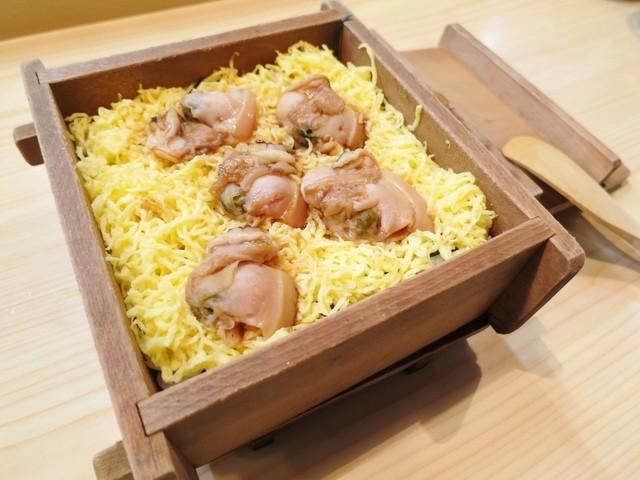 俵寿司 - 焼き蛤の蒸し寿司☆