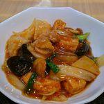 中国料理 喜仙 - 料理写真:揚げ豆腐と豚肉と野菜のいため