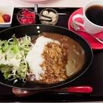 キッチン ムク - 朝カレーセット(全体)