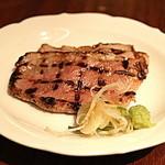 37574387 - 小皿コース「鴨ロース焼き/葱/山葵」