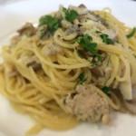 燕三条イタリアン Bit - 鶏のサルシッチャと舞茸のビアンコ