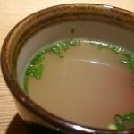 焼き鳥 きんざん - セットの鶏スープ