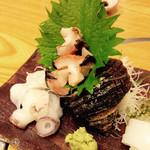 ふじ乃 - 水蛸、サザエ