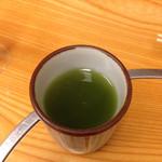 ふじ乃 - 上がり、抹茶入りの濃厚緑茶