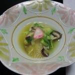 七草の湯 - 料理写真:二日目、りんごのみぞれ酢。好きでした。