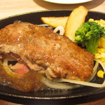 37581535 - 宮ロースステーキ(1380円)