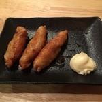 らーめん 御器所鶏白湯 鶏神 - セットの鶏皮餃子