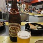 本店 鉄なべ - ビール 中ビン 540円