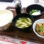 すき家 - 2015.05まぜのっけごはん定食(320円)
