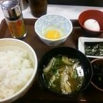 すき家 - 2015.05たまごかけごはん定食(220円)