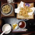 お食事処 秀 - 磯めし天ぷら定食