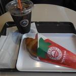 サンマルクカフェ - アイスコーヒー(ブラック)と共に