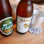 路家 - シンハービール600円とチャンビール650円