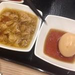吉野家 - 牛煮込み(¥350)と煮玉子(¥100)