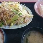 あさひ - 肉野菜炒め定食