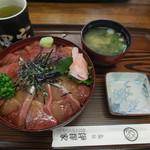 37593124 - まぐろ&ハマチ漬け丼 ¥1030-