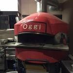オッジ - 石焼き窯が厨房にありました。