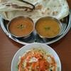 フルバリ - 料理写真:Cセット(マトン、サグリ) ナンが食べ放題で2枚完食。