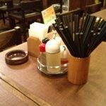 万世麺店 - テーブルセット