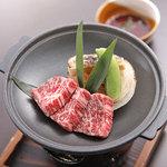 日本酒バル 方舟プラチナ  - 越後牛希少部位「いちぼ」陶板焼き