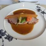 37598816 - 肉料理 麗光オレンジソースの豚ロースのロースト