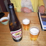 朝市食堂 - キリンビール(大瓶) 600円
