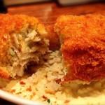 魚寿司 - カジキマグロのメンチカツ