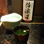高麗橋桜花 - おすまし、日本酒